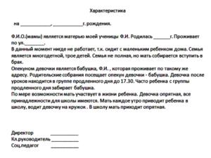 Пример характеристики на воспитанника доу внимания