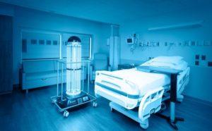 Кварцевание палат в больнице