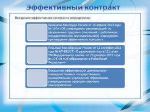 Пример эффективного контракта с учителем школы