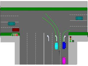 Дорожные знаки на т образном перекрестке