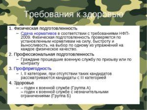 3 группа здоровья армия