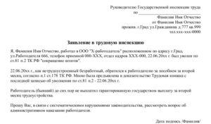 Трудовая инспекция москва подать жалобу на работодателя