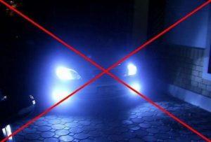 Запрещает ли пдд использовать ксенон в противотуманных фарах