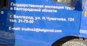 Трудовая инспекция белгород сотрудники