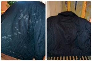 После стирки куртки остались разводы что делать