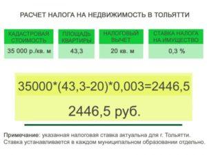 Как посчитать налог на квартиру калькулятор 2017